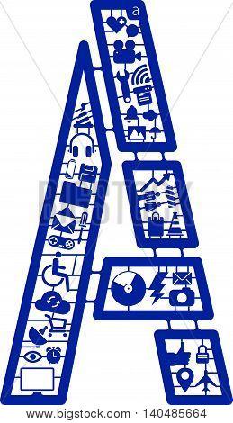 Assemble icon model kit form the font -A