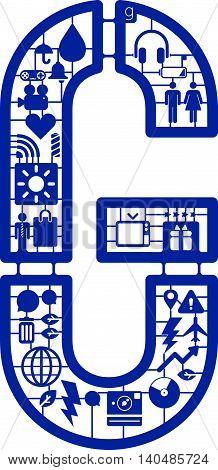 Assemble icon model kit form the font -G