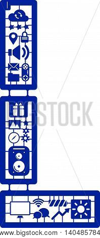 Assemble icon model kit form the font -L
