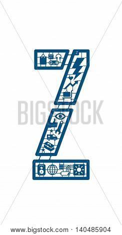 Assemble icon model kit form the font -Z