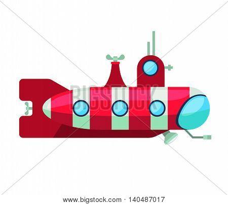 submarine transport aquatic icon vector graphic isolated
