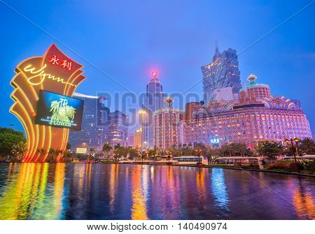 The Buildings Of Casino In Macau, China