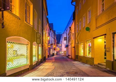 View of  Fussen town in Bavaria Germany.