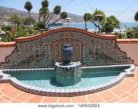 Adamson House tile fountain, California State Park, Malibu