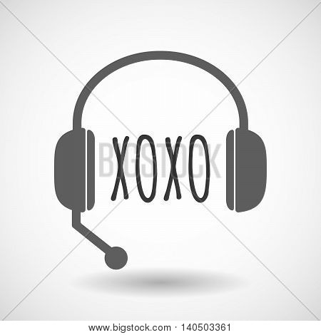 Isolated  Headset Icon With    The Text Xoxo