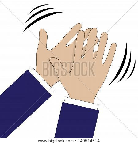 Hands clapping symbol. Vector icons for video mobile apps Web sites and print projects.