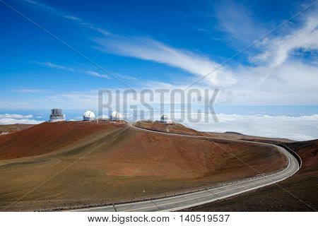 Astronomical Observatories On Mauna Kea, Hawaii