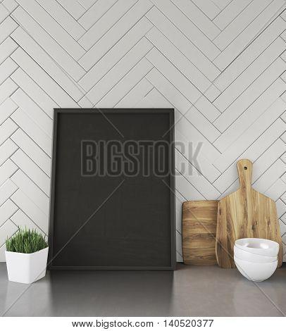Working Surface In Modern Kitchen