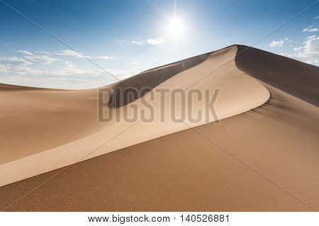 Sand dunes Khongoryn Els in Gobi Desert Umnugovi South Gobi Mongolia.