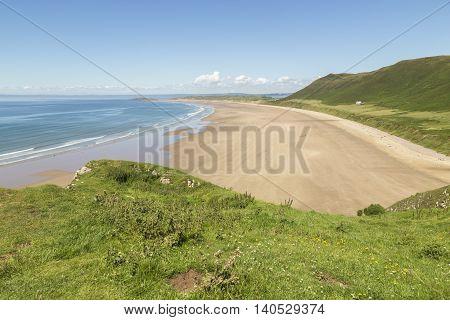 An image of the beautiful Rhossili Bay Rhossili South Wales UK.