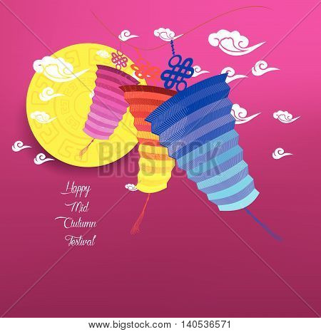 Mid Autumn Lantern Festival background. Chinese new year