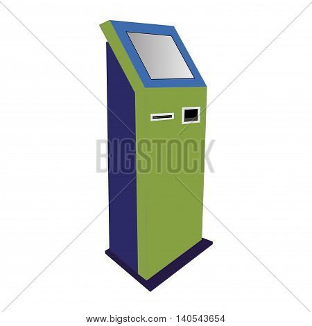 information kiosk, payment terminal, stand. Vector isolated on white background