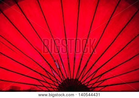 Japanese Oriental red umbrella background texture pattern