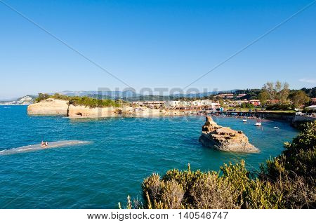 Famous Sidary beach on the island of Corfu Greece.
