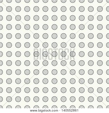 Seamless pattern. Abstract small dotted background. Modern stylish texture with regularly repeating geometrical shapes dotted circles. Vector element of graphical design
