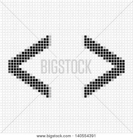 Bracket. Simple Geometric Pattern Of Black Squares In Bracket