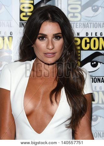 LOS ANGELES - JUL 22:  Lea Michele arrives to the Comic Con 2016 -