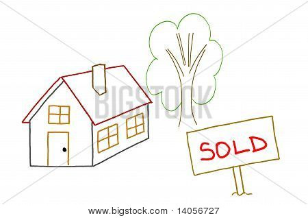Hand Drawing Sold House