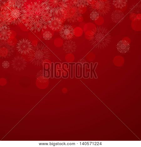 Vector Illustration of a Christmas Background with Snowflakes and Stars