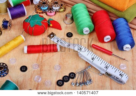 Sewing Items On The Table