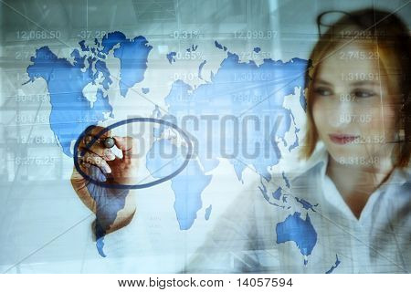 Stock Market And The World Map