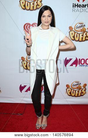 NEW YORK-DEC 12: Singer Jessie J attends Z100's Jingle Ball 2014 at Madison Square Garden on December 12, 2014 in New York City.