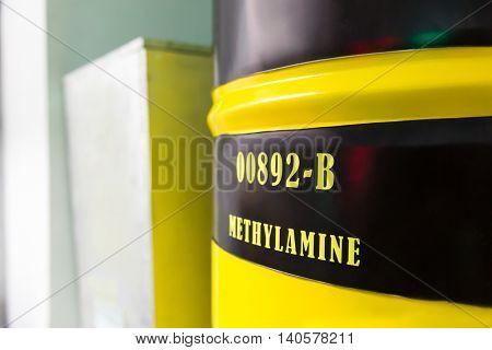 Barrel with methylamine