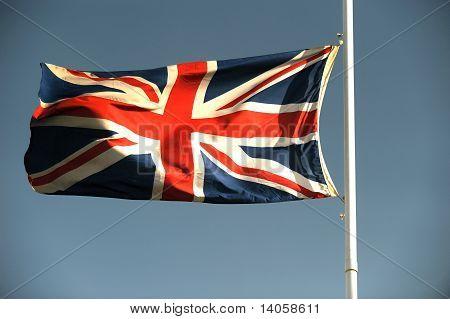 Half mast union jack