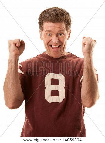Happy Sports Fan