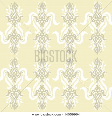 Illustration of an ancient wallpaper or cloth pattern, that can be used continuously poster