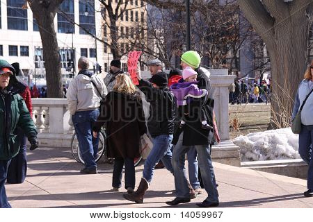 Protests in Madison, WI
