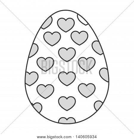 flat design easter egg icon vector illustration