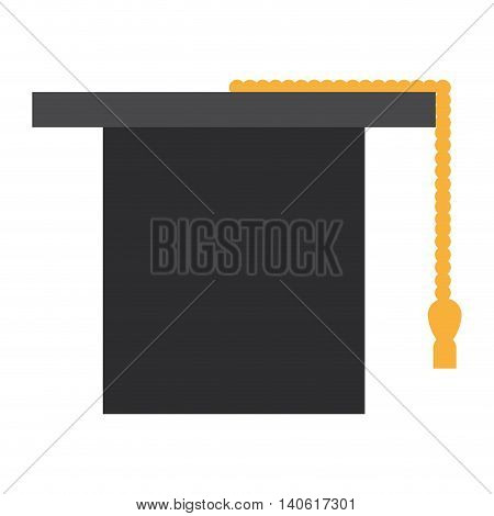 flat design graduation cap icon vector illustration