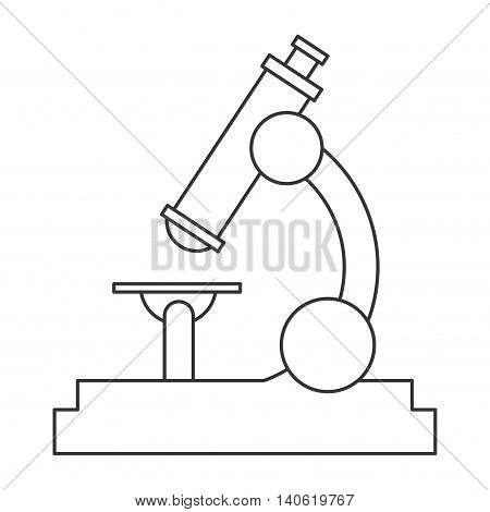 flat design single microscope icon vector illustration
