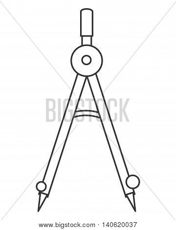 flat design measuring compass icon vector illustration