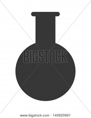 flat design test tube icon vector illustration