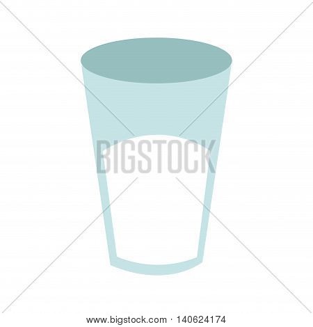 flat design glass cup with liquid icon vector illustration