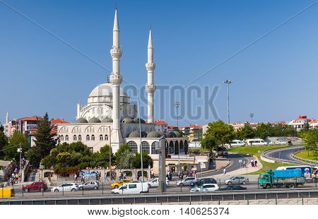 Mosque In Avcılar, District Of Istanbul, Turkey