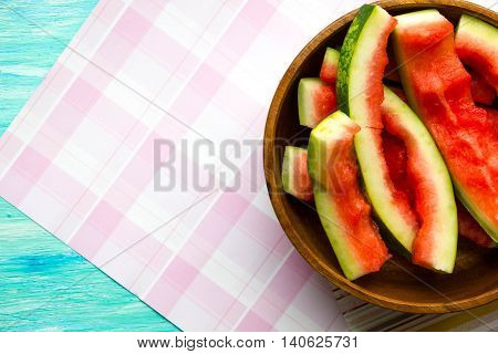 the concept of raw food diet eat too much watermelon and poisoned with pesticides than dangerous watermelon benefits watermelon place for text