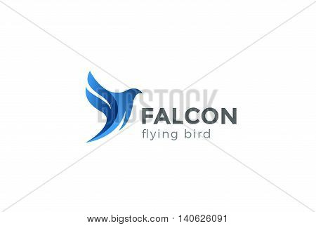 Falcon Bird Logo abstract design vector. Flying Eagle Hawk icon