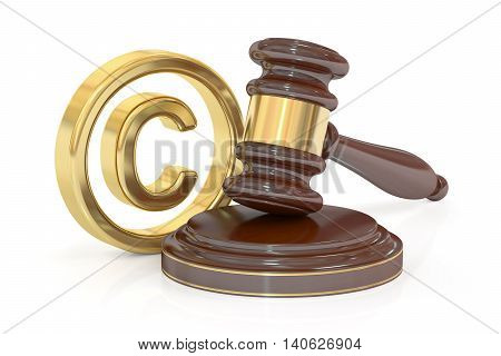 Copyright laws and intellectual property concept 3D rendering