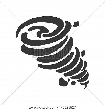 Natural Disaster concept represented by twister icon. Isolated and flat illustration