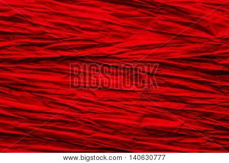 Paper Crumpled Background Abstract Rough Creased Red Rumpled Texture