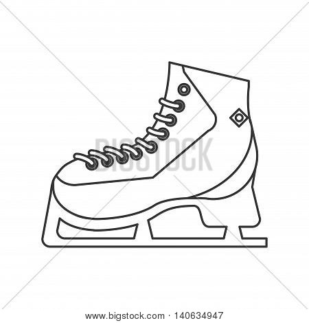 flat design ice skates icon vector illustration