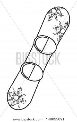 flat design snowboard sport icon vector illustration