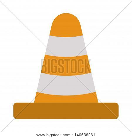 flat design construction or traffic cone icon vector illustration