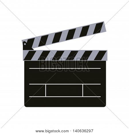 Cinema and Movie concept represented by clapboard icon. Isolated and flat illustration