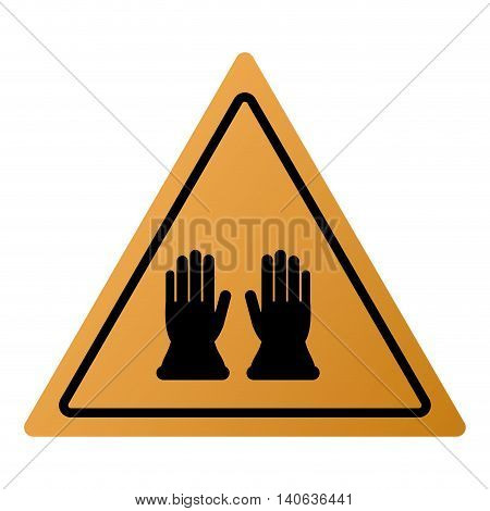 flat design industrial protection gloves icon vector illustration sign