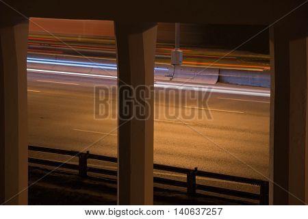Vehicular Traffic On A Highway