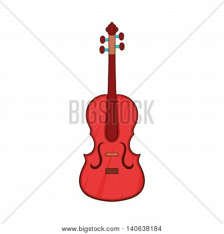 Cello icon in cartoon style isolated on white background. Musical instrument symbol